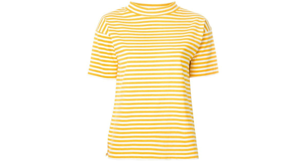 M.i.h jeans Striped T-shirt in Yellow | Lyst