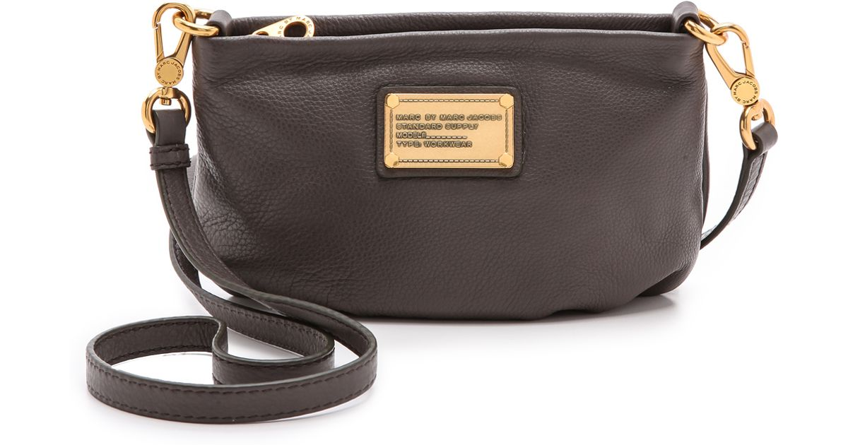 324accbc27 Lyst - Marc By Marc Jacobs Classic Q Percy Bag - Faded Aluminum in Metallic