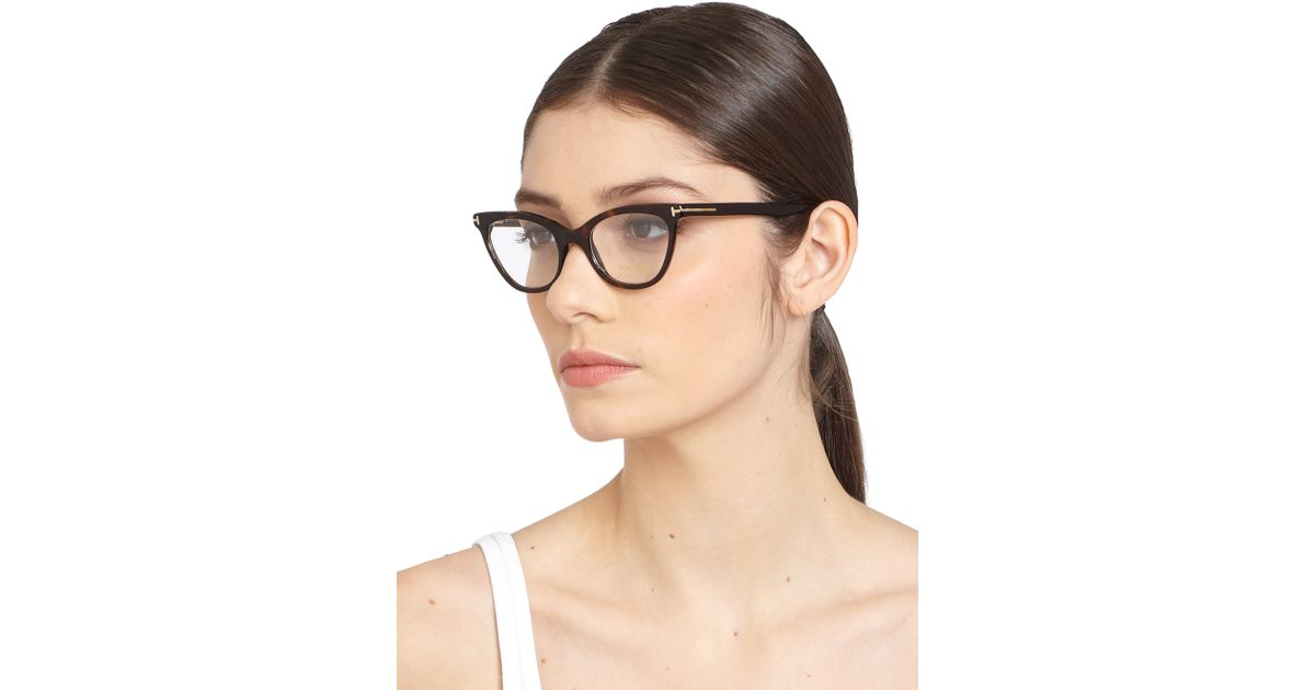 5e6ec69907 Tom Ford Cat S-Eye Optical Glasses in Black - Lyst