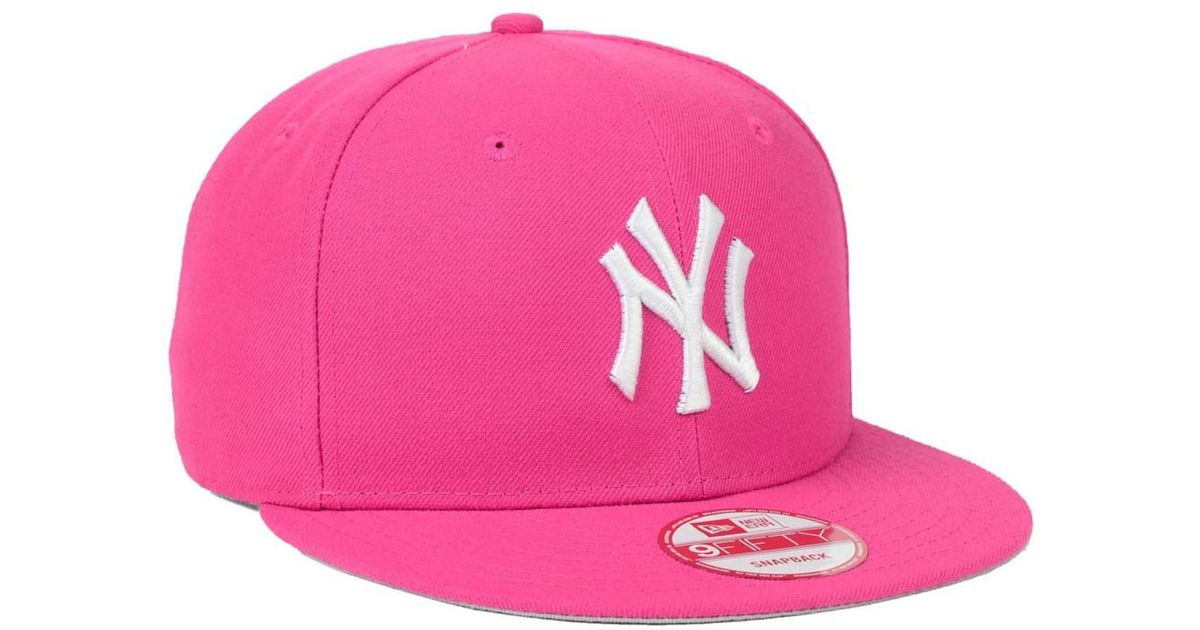 Lyst - KTZ New York Yankees C-dub 9fifty Snapback Cap in Pink for Men e1695716ae39