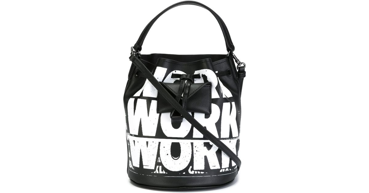 1a5972fa3527 Lyst - Marc By Marc Jacobs Work Print Tote in Black