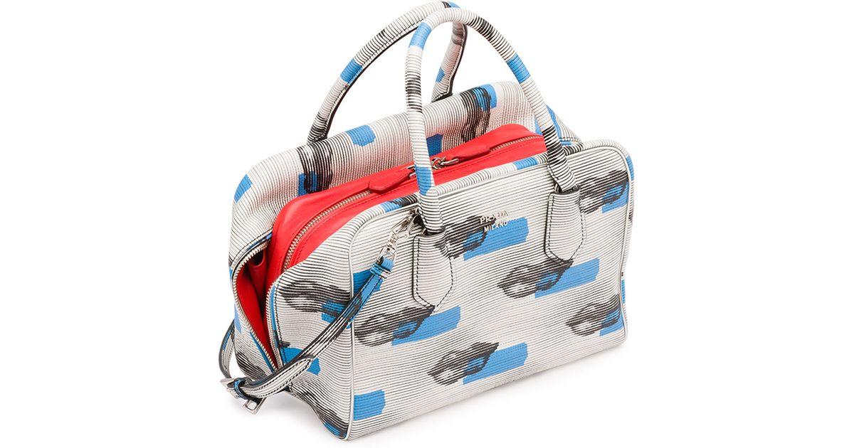 989a7d938441 Prada Daino St. Lips Inside Bag in Blue - Lyst