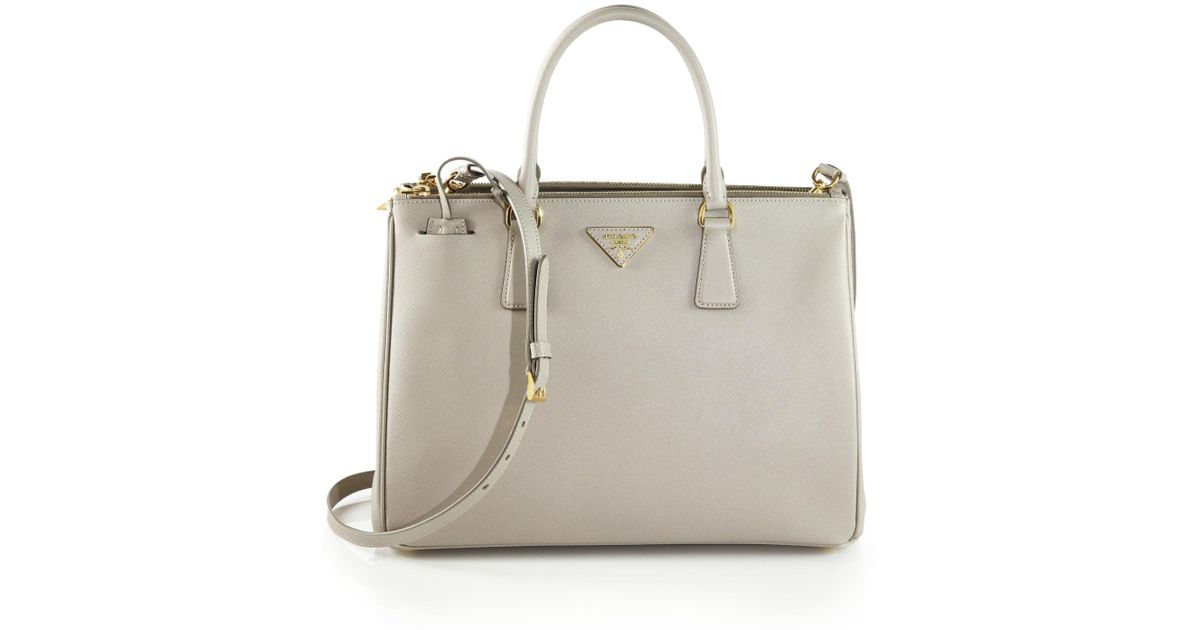 c438d0001c1c48 Prada Saffiano Medium Double Zip Top-handle Bag | Stanford Center ...