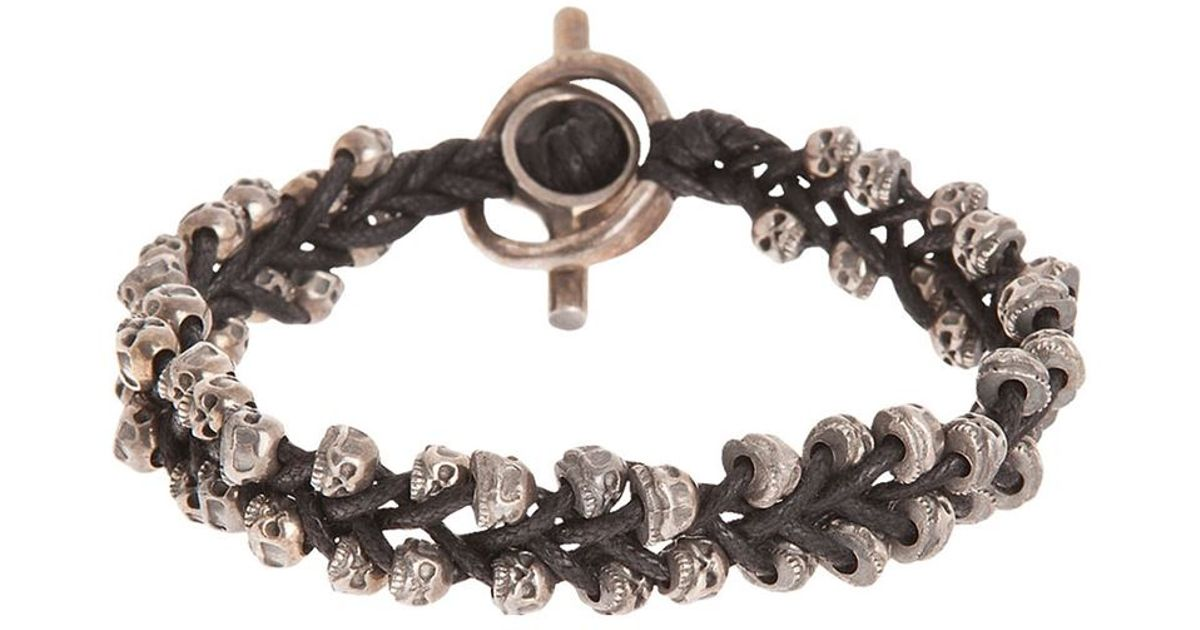 Tobias Wistisen skull bar bracelet - Brown w54tiN