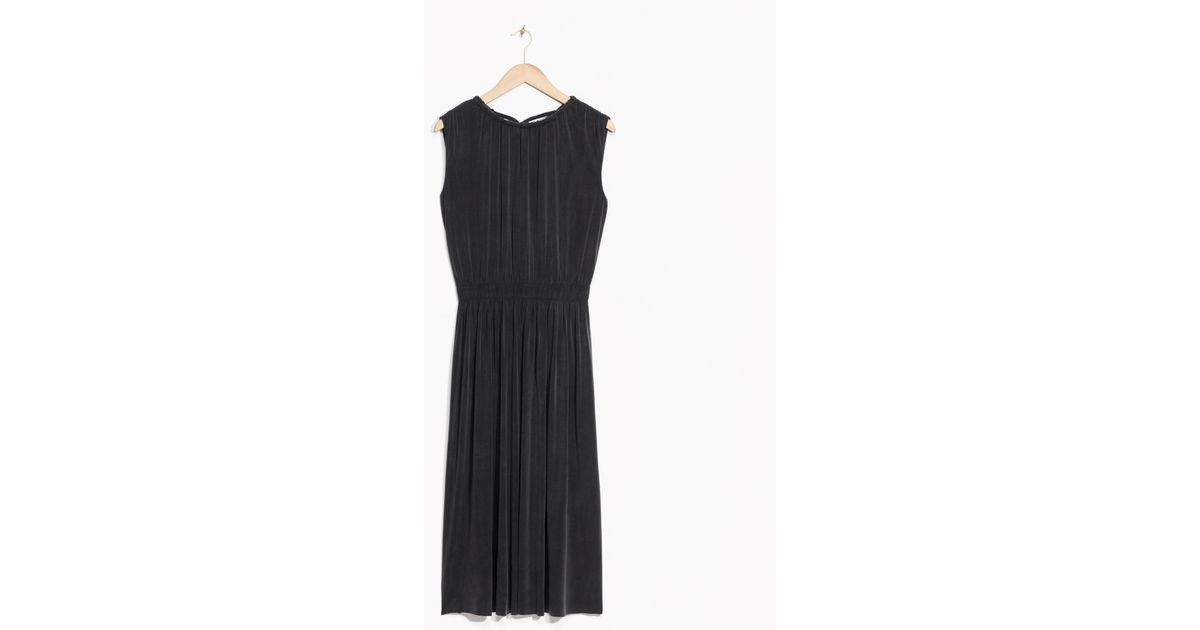 09f266ae26 Lyst -   Other Stories Open Back Cupro Dress in Black