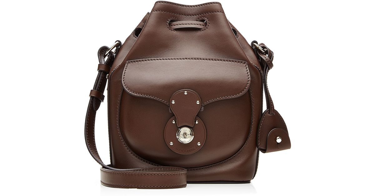 868ca579c3 Lyst - Ralph Lauren Collection Ricky Small Leather Shoulder Bag - Brown in  Brown