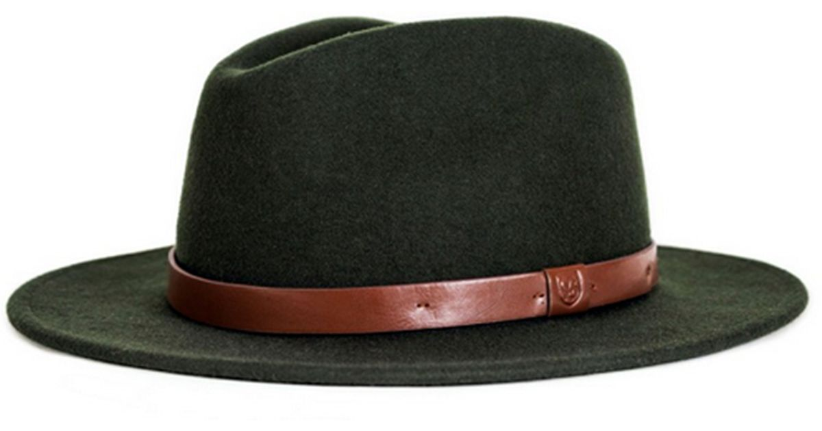 3e0065a7563 Lyst - Brixton Messer Fedora in Green