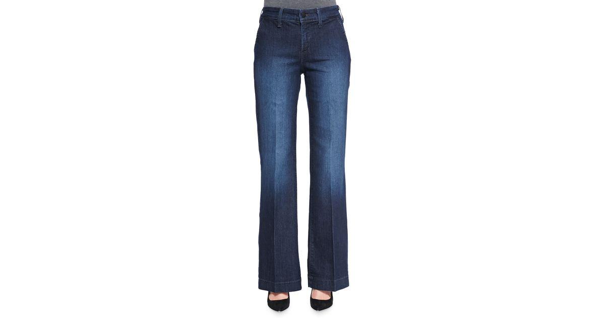 Nydj Wynonna Wideleg Trouser Jeans Petite in Blue   Lyst