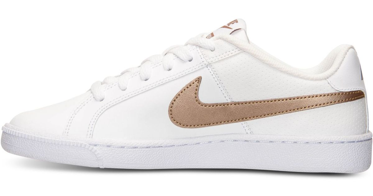 9f3cdb6c47ac Lyst - Nike Women s Court Royale Casual Sneakers From Finish Line in White