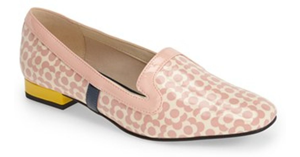 85a6aed51a4 Lyst - Clarks Clarks X Orla Kiely  bella  Floral Print Patent Leather Loafer  in Pink