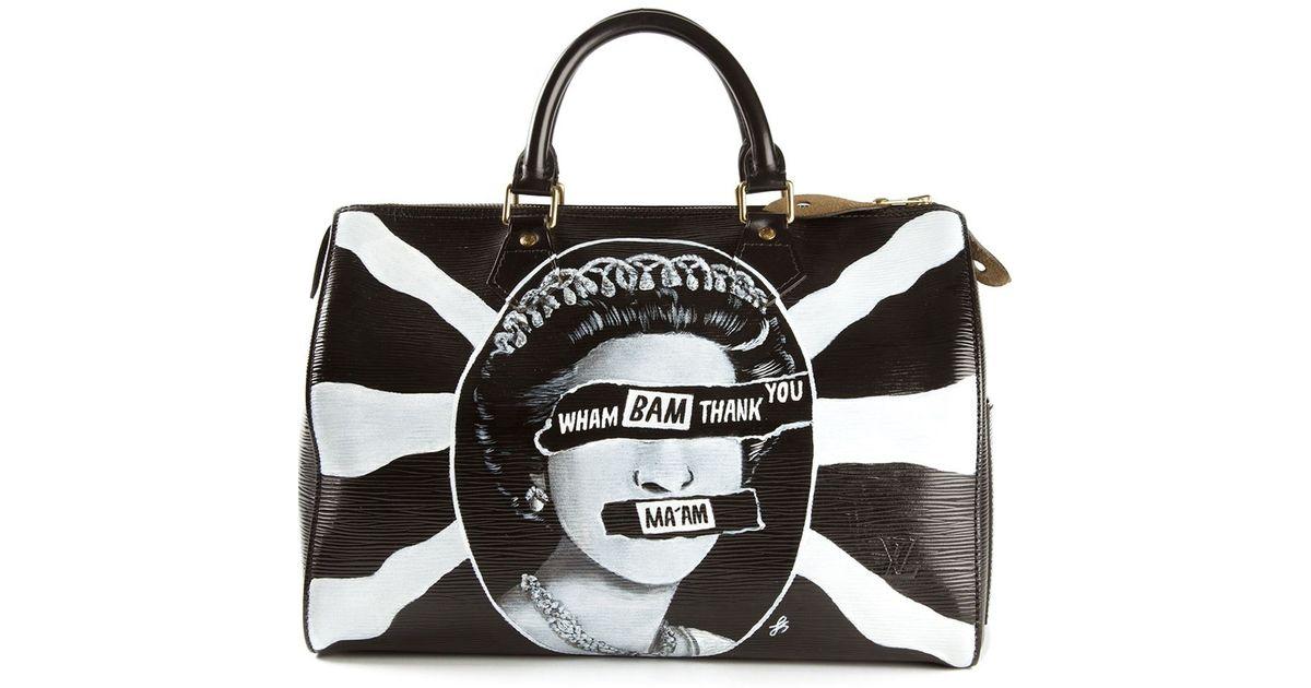 ab4d4e03ec34 Lyst - Louis Vuitton Union Jack Printed Bowling Bag in Black
