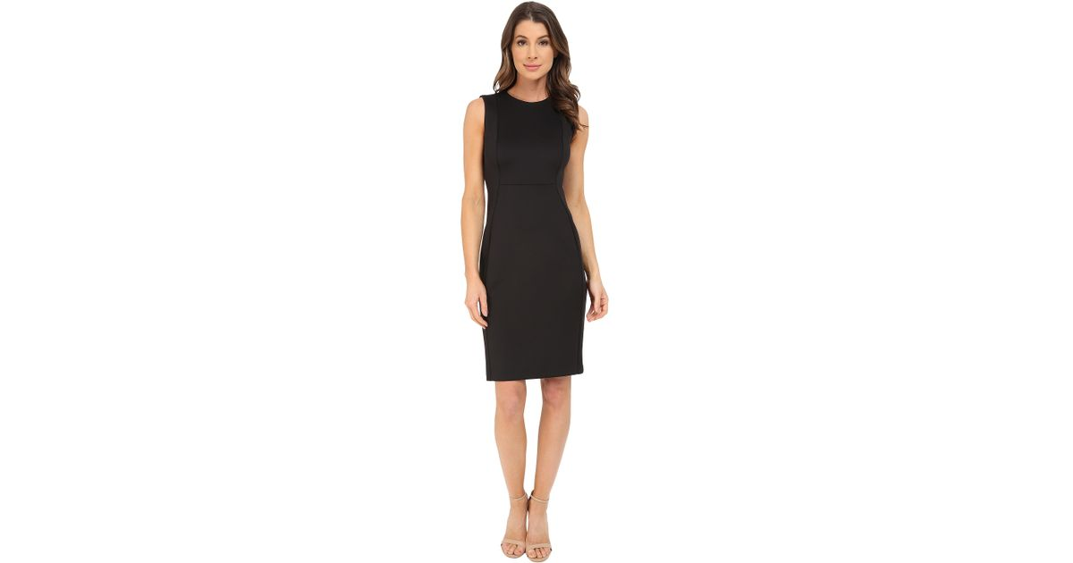 Lyst Calvin Klein Sleeveless Sheath Dress Cd6m1a00 In Black