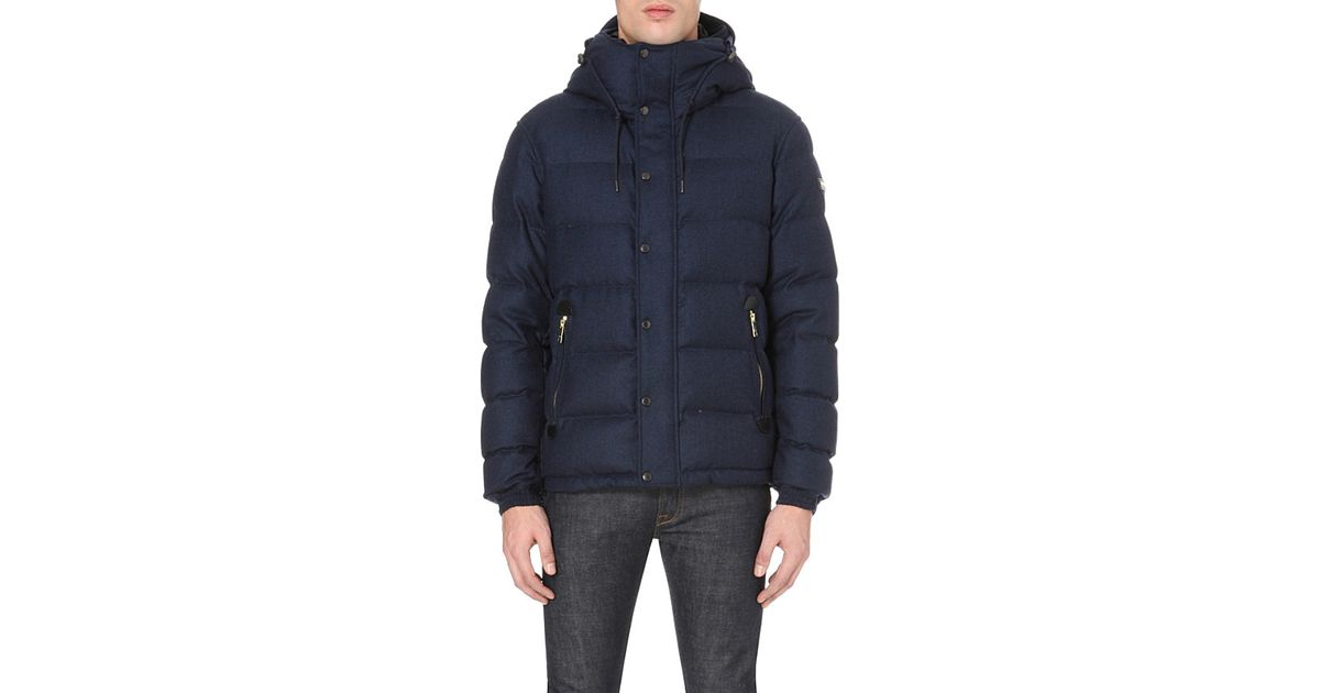 Lyst Burberry Myton Quilted Wool Jacket In Blue For Men