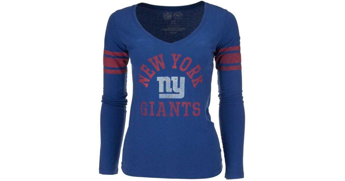 ec13443c3 47 Brand Women s Long-sleeve New York Giants Homerun T-shirt in Blue - Lyst