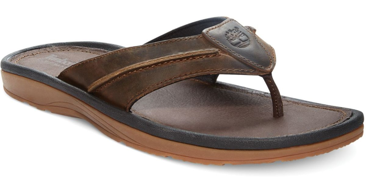 0b90abaec97 ... Lyst - Timberland Earthkeepers Rugged Thong Sandals in Brown for Men ...