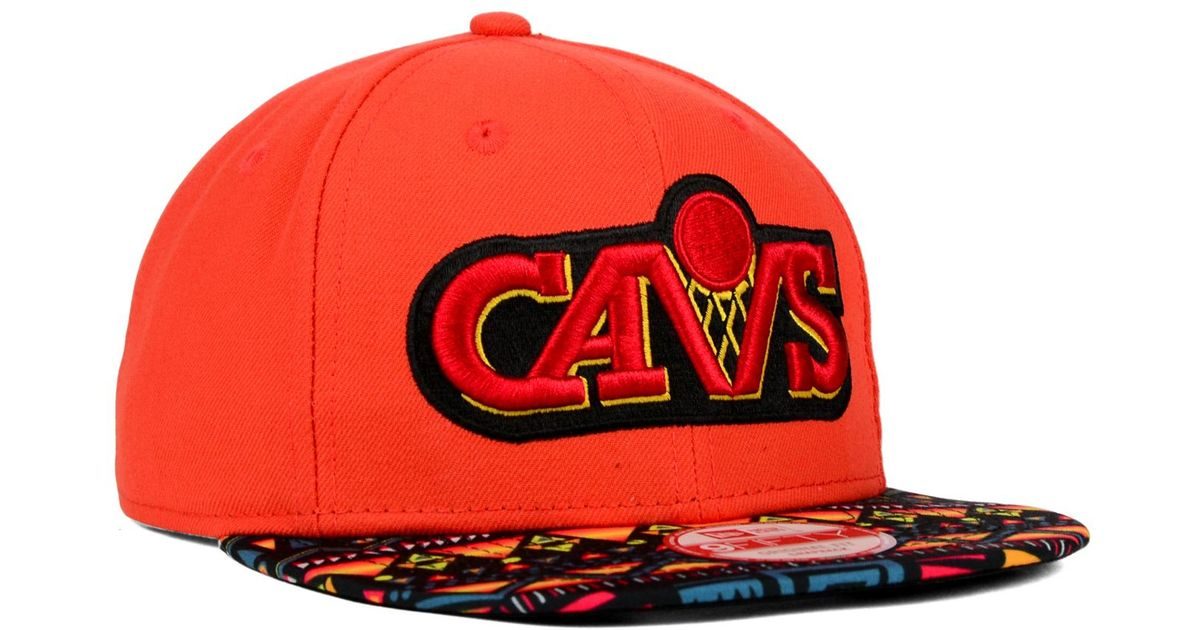 the best attitude 55369 52127 ... france lyst ktz cleveland cavaliers hwc tribe called 9fifty snapback cap  in orange for men a81b1