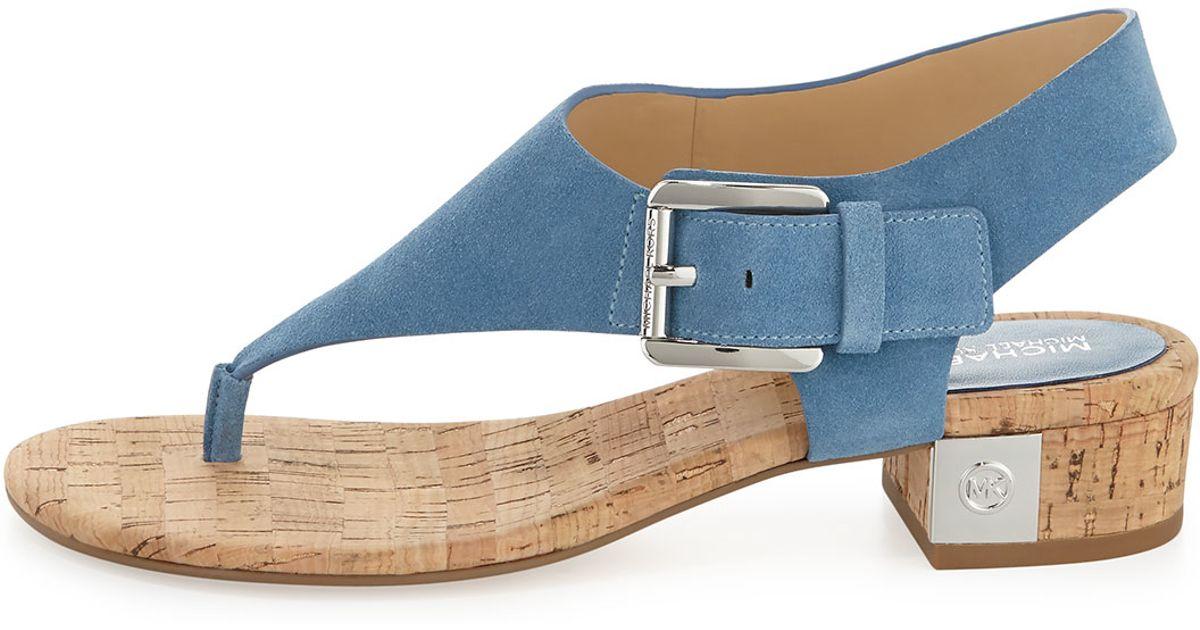 d81df3aeec2 Lyst - MICHAEL Michael Kors London Suede Sandals in Blue