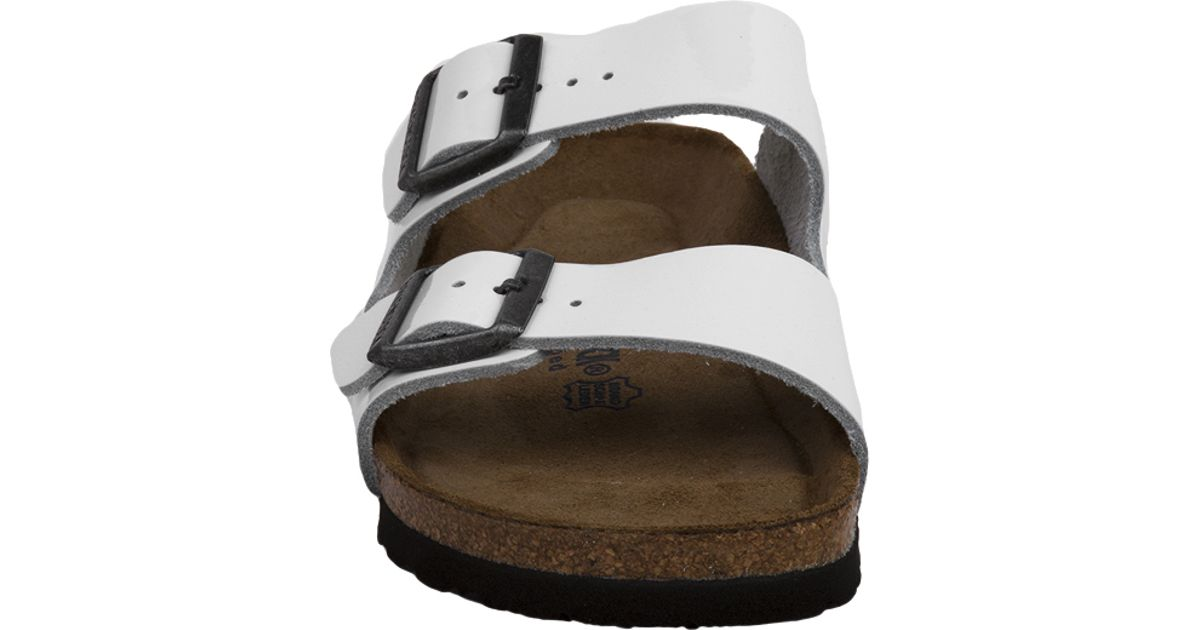 Soft White Leather Birkenstock Footbed Sandals Arizona Patent In Lyst n0OPNkX8w