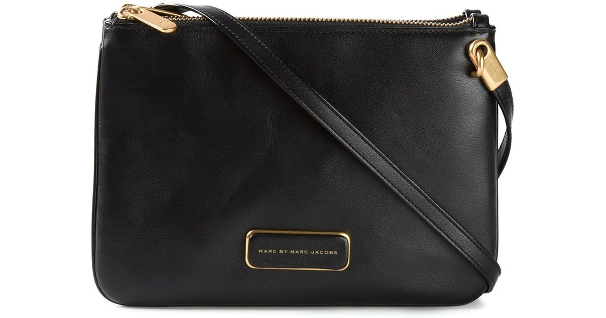 85699fc2ba81 Lyst - Marc By Marc Jacobs Ligero Double Percy Leather Cross-body Bag in  Black