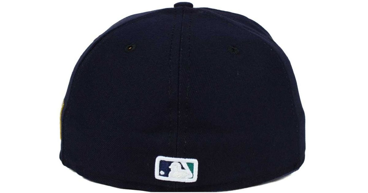 1eb9699c09d Lyst - KTZ Seattle Mariners Ac 9-11 Patch 59fifty Cap in Blue for Men