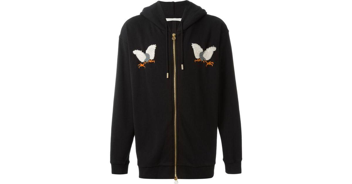 c6d8dcef97c Lyst - Off-White c o Virgil Abloh Embroidered Eagle Hoodie in Black for Men