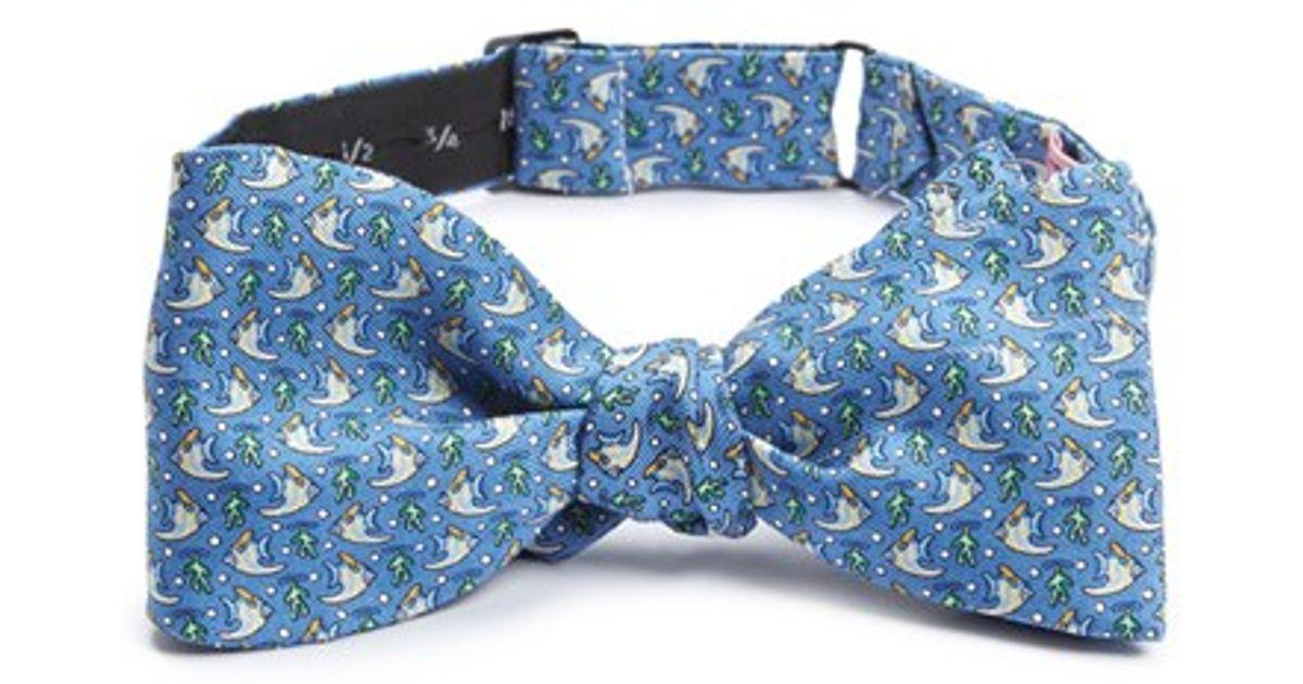 Lyst Vineyard Vines 39 Angel Fish 39 Silk Bow Tie In Blue
