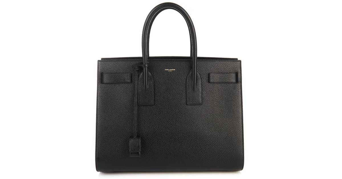 ysl replica bags uk - large shopping saint laurent tote bag in ultramarine and black leather