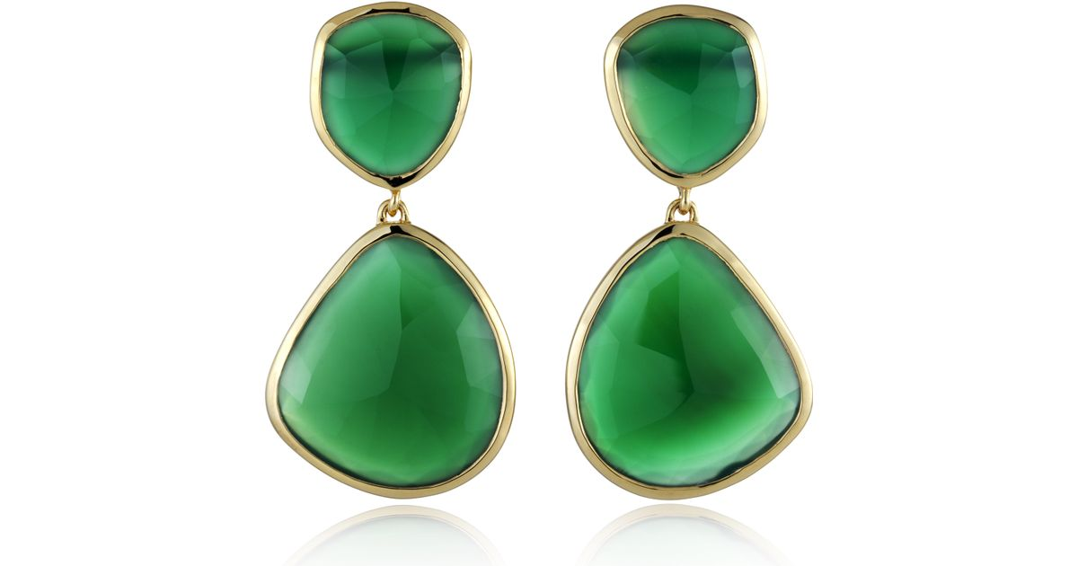 Gold Siren Cocktail Earrings Green Onyx Monica Vinader L70yZHRcA