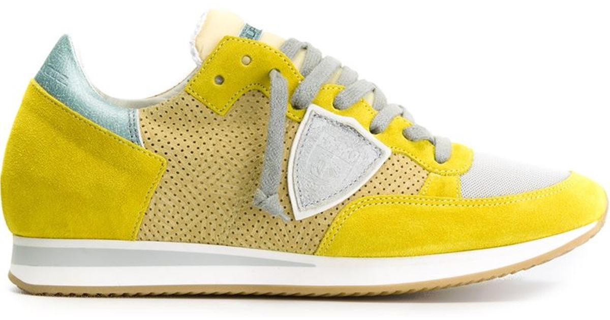 In Paneled Sneakers Philippe Yellow For Top Low Model Leather Men Lyst RCw0qw