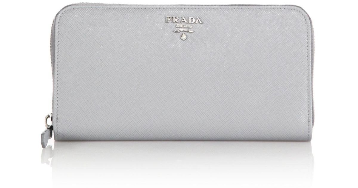 white prada wallet