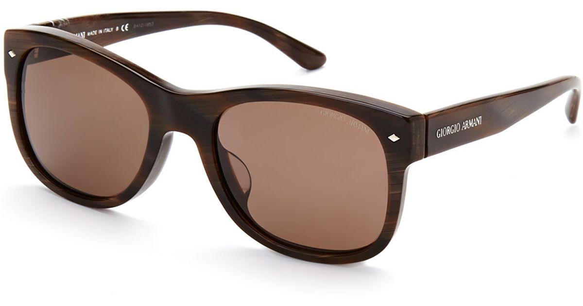 d8dcfa4daf240b Lyst - Giorgio Armani Ar8008-F Brown Brushed Print Wayfarer Sunglasses in  Brown for Men