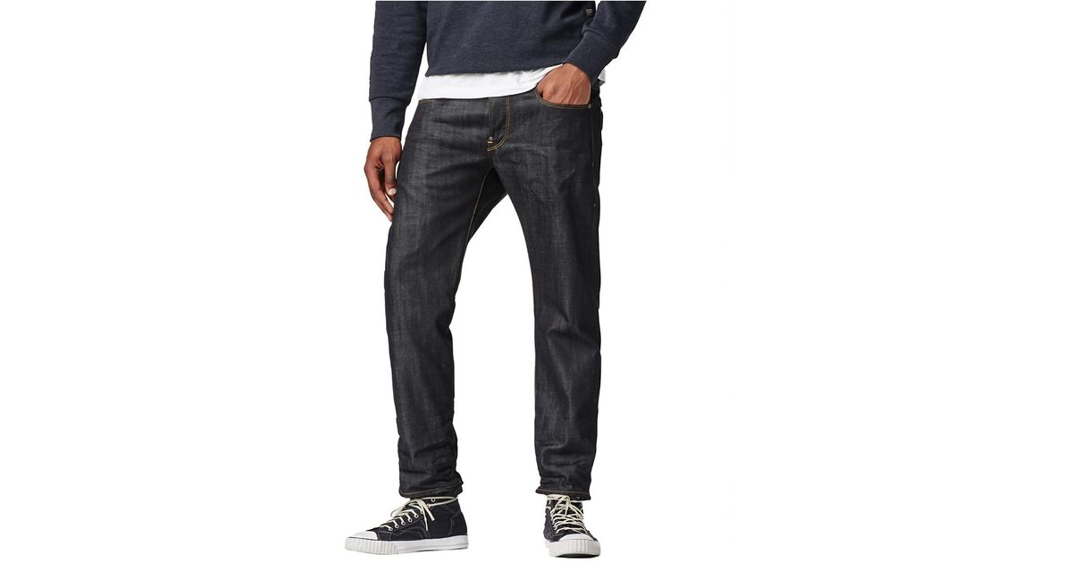 g star raw attacc straight jeans in blue for men lyst. Black Bedroom Furniture Sets. Home Design Ideas