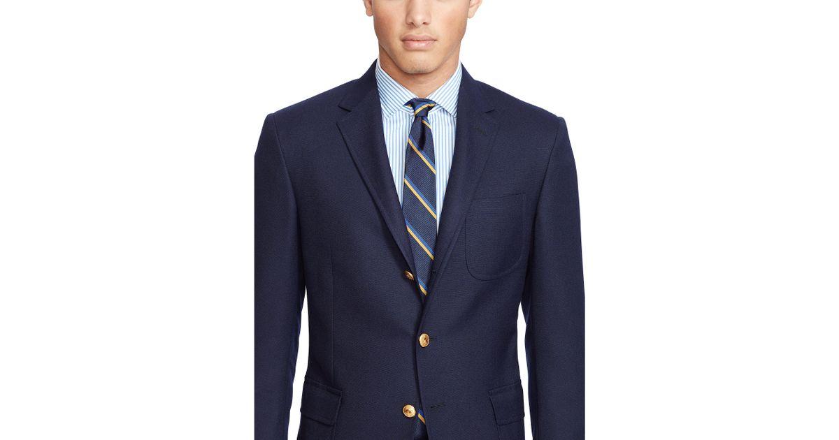 4bb8b7467ff3 Polo Ralph Lauren Polo Wool Hopsack Sport Coat in Blue for Men - Lyst