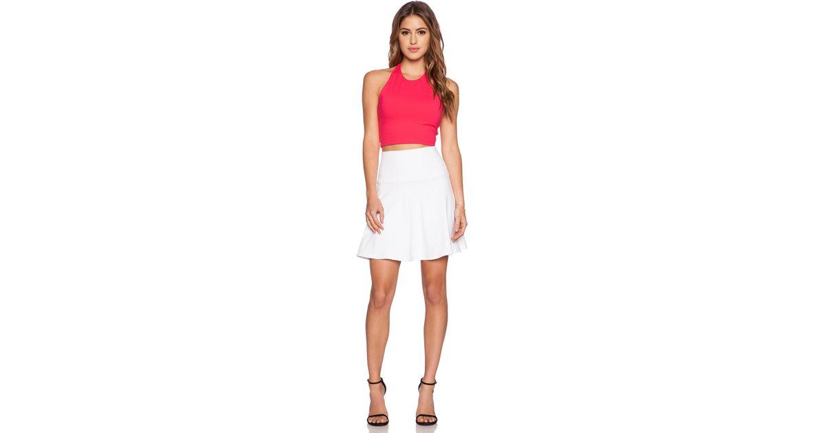 5641e2b2ad Susana Monaco High Waist Flare Skirt in White - Lyst