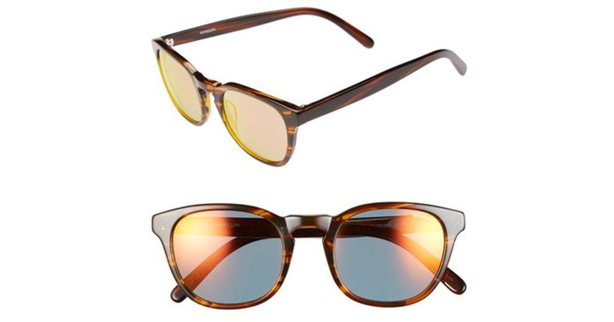 db1922b15ed Lyst - Randolph Engineering  ashby  50mm Sunglasses in Brown for Men