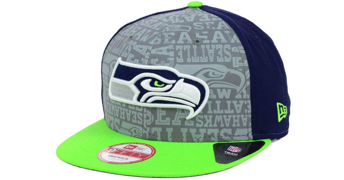 official photos deafd dfcc7 ... discount lyst ktz seattle seahawks nfl draft 9fifty snapback cap in  green for men 297f8 56943