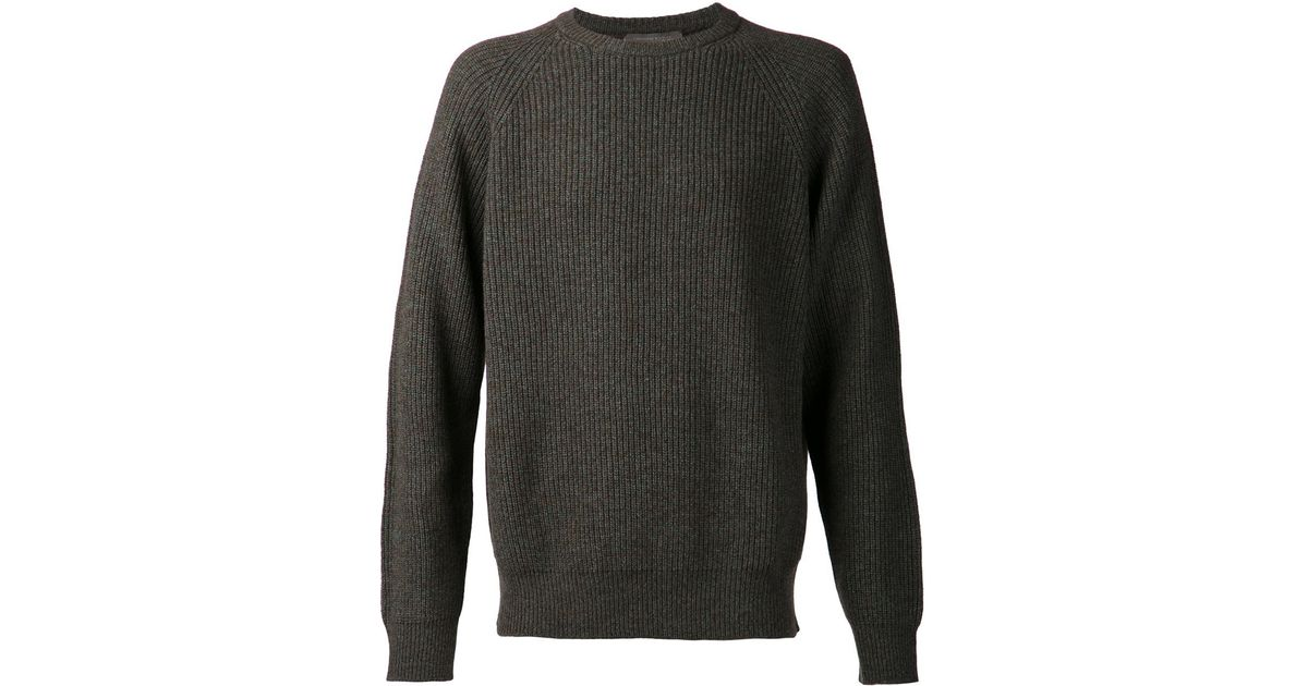 Christophe lemaire Ribbed Sweater in Green for Men | Lyst