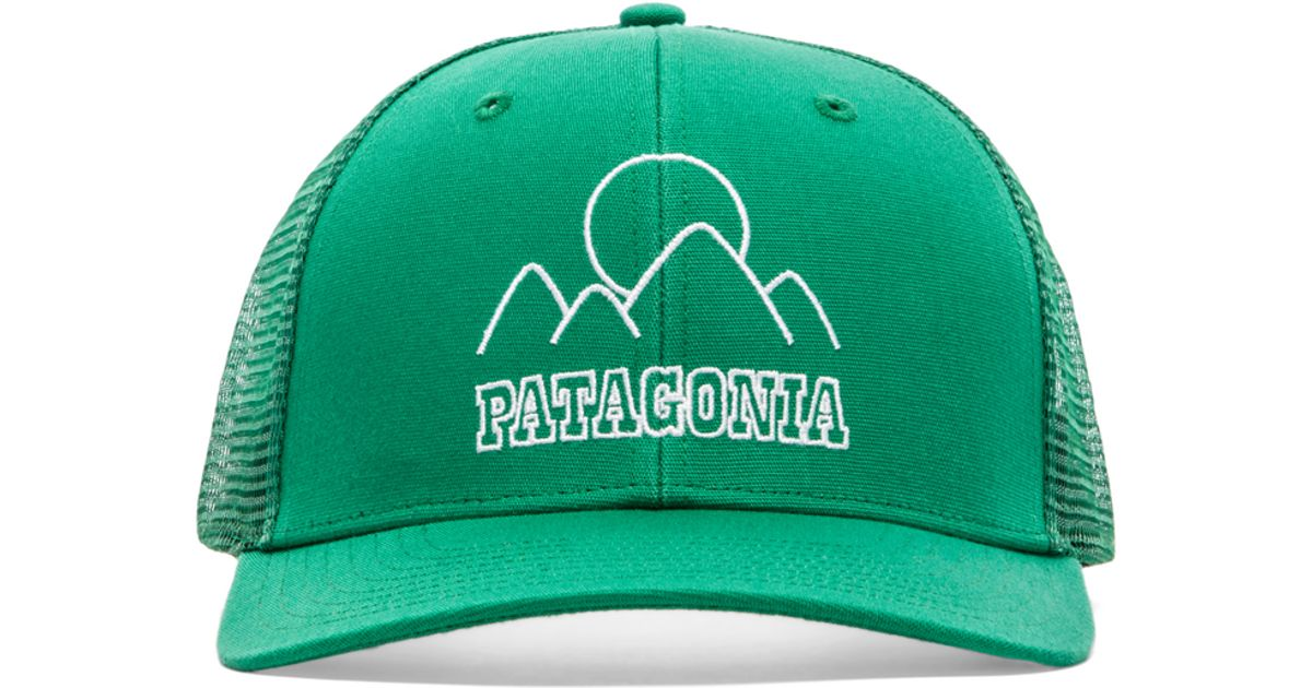 Lyst - Patagonia Trucker Hat in Green 129361b72ad