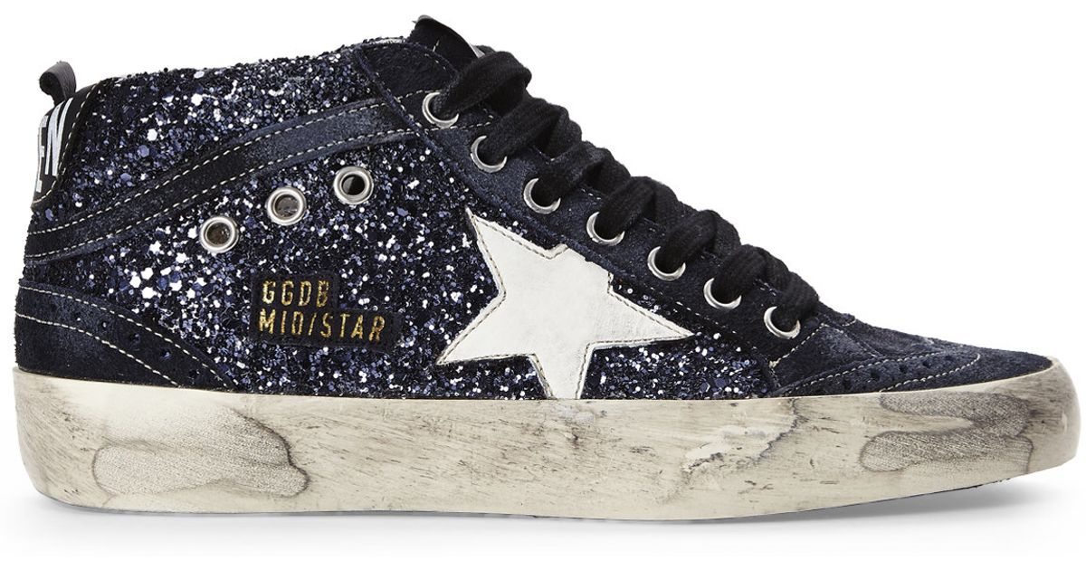Midstar glitter and suede trainers Golden Goose 5l7msc8ZE