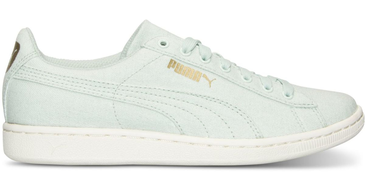 614a66c8aa6c Lyst - PUMA Women s Vikky Canvas Casual Sneakers From Finish Line in Blue