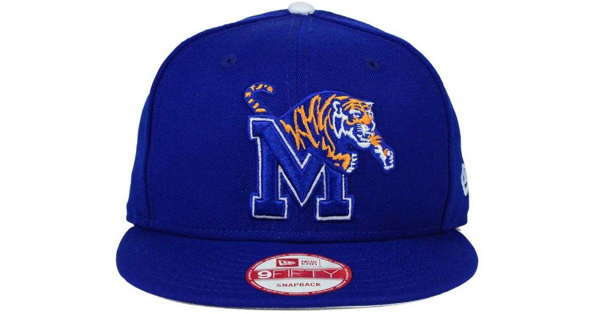 new arrival f5f97 fa26e Lyst - KTZ Memphis Tigers Core 9fifty Snapback Cap in Blue for Men