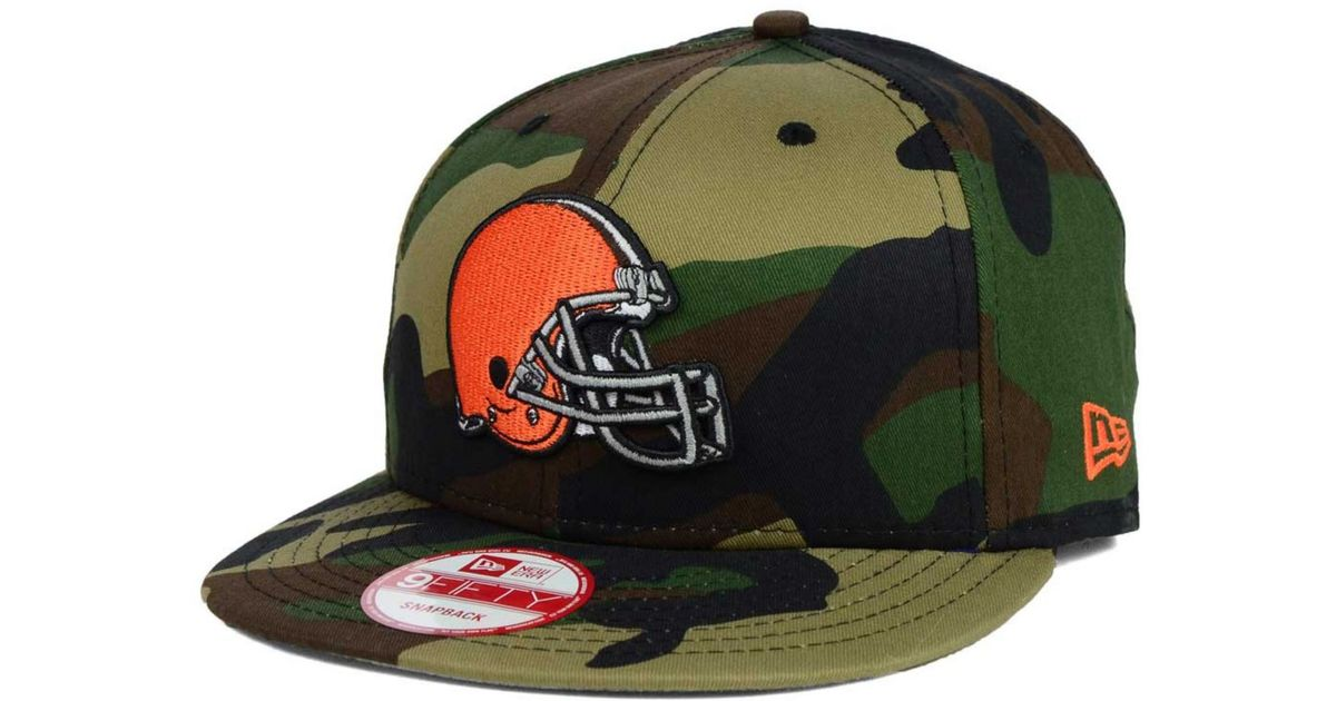 promo code 6bca1 784a6 KTZ Cleveland Browns Woodland Camo Team Color 9fifty Snapback Cap in Green  for Men - Lyst