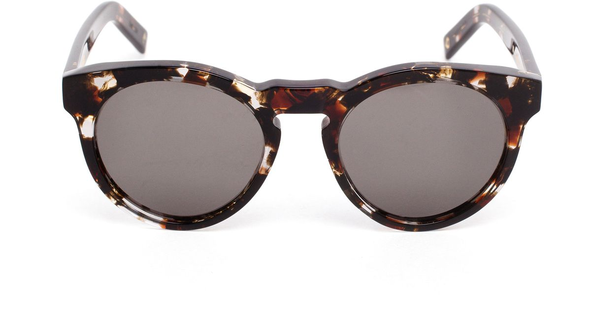a79344f0704 Lyst - Dick Moby Ams Round Tortoiseshell Sunglasses in Black for Men