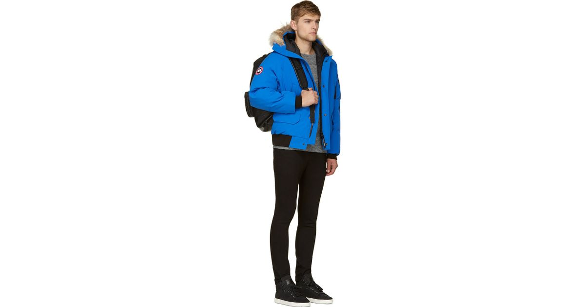 Lyst - Canada Goose Blue Fur And Down Pbi Chilliwack Bomber in Blue for Men