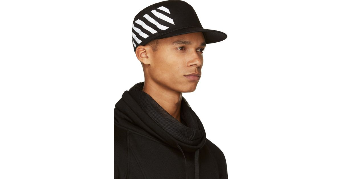 e5e71bfd6c3 Lyst - Off-White c o Virgil Abloh Baseball Cap With Stripe Print in Black  for Men