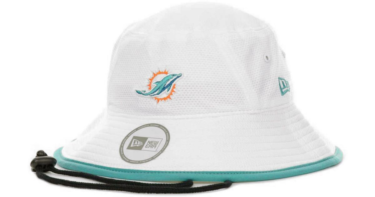d8f1c63207e Lyst - KTZ Miami Dolphins Training Camp Bucket Hat in White