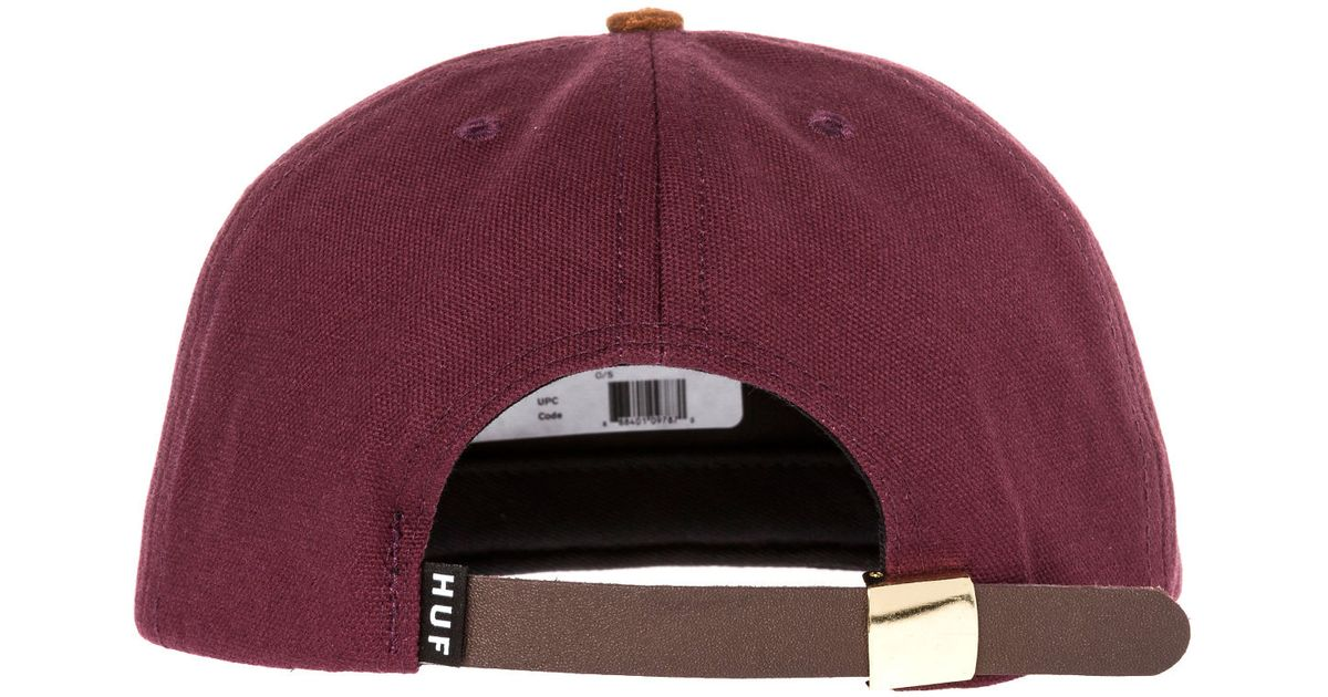 73e10c3d02820 ... greece lyst huf the gold metal h strapback hat in purple for men 61857  cebf5 coupon huf box logo trucker ...