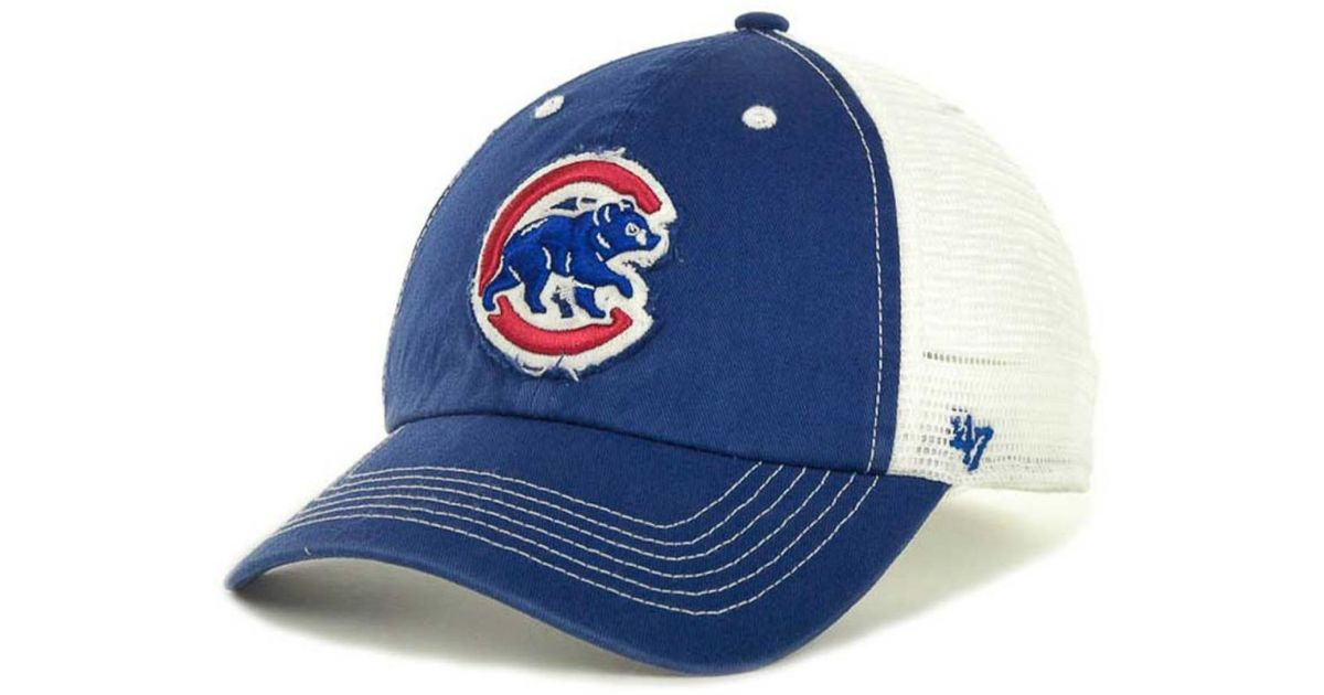 Lyst - 47 Brand Chicago Cubs Blue Mountain Franchise Cap in Blue for Men fcfb92ce35b