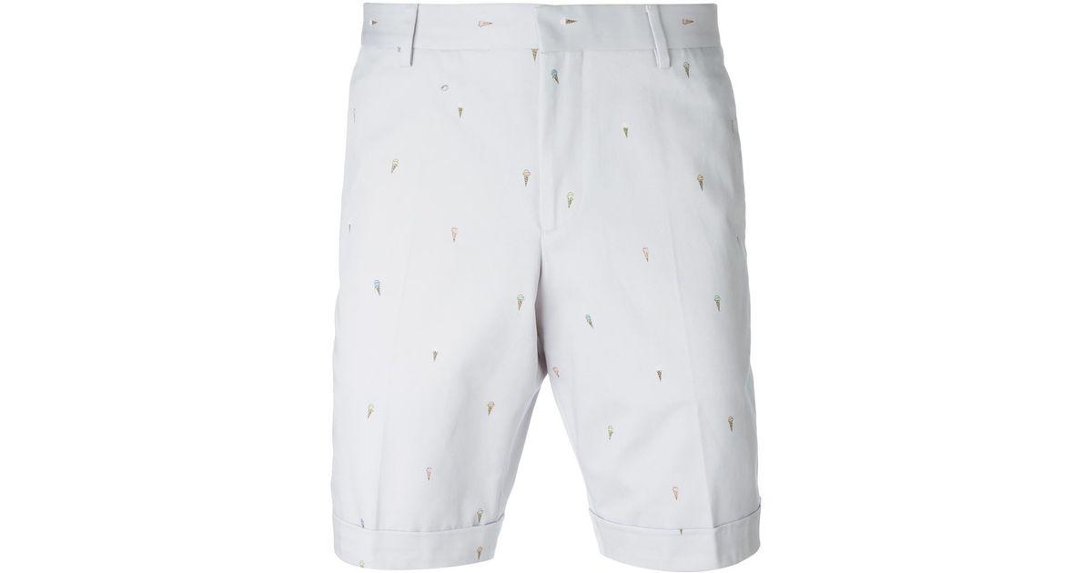 4e3bcc023f Paul Smith Ice-cream Motif Shorts in Gray for Men - Lyst