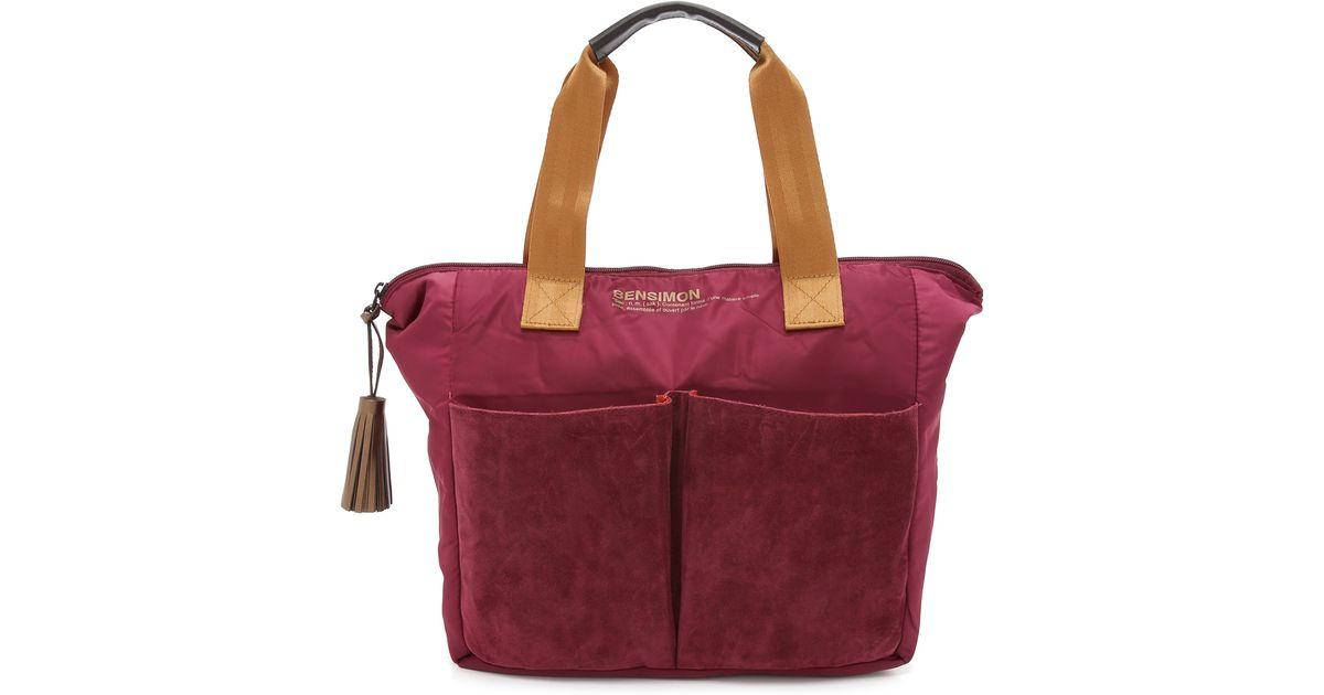 bensimon tote bag raspberry in red lyst - Color Bag Bensimon